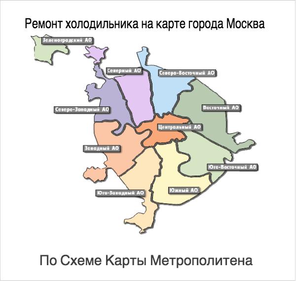 по схеме карты метро